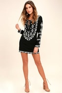 A Day in the Life Black and White Embroidered Dress 2