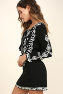 A Day in the Life Black and White Embroidered Dress 3