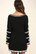 A Day in the Life Black and White Embroidered Dress 4