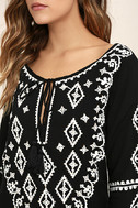 A Day in the Life Black and White Embroidered Dress 5