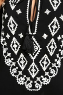A Day in the Life Black and White Embroidered Dress 6