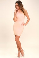 Endlessly Alluring Blush Pink Lace Bodycon Dress 2