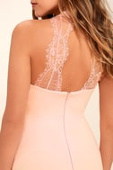 Endlessly Alluring Blush Pink Lace Bodycon Dress 5