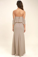 All My Heart Taupe Off-the-Shoulder Maxi Dress 4