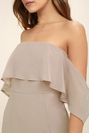 All My Heart Taupe Off-the-Shoulder Maxi Dress 5