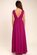 Heavenly Hues Magenta Maxi Dress 4