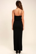Watch the Sunset Black Maxi Dress 4