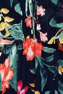 Infinite Love Navy Blue Print Off-the-Shoulder Maxi Dress 6