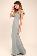 Perfect Opportunity Grey Maxi Dress 2