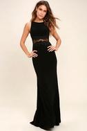 Optimum Elegance Black Lace Maxi Dress 1