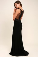 Optimum Elegance Black Lace Maxi Dress 3
