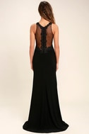 Optimum Elegance Black Lace Maxi Dress 4