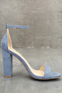 Taylor Blue Suede Ankle Strap Heels 4
