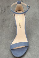 Taylor Blue Suede Ankle Strap Heels 5
