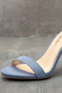 Taylor Blue Suede Ankle Strap Heels 6