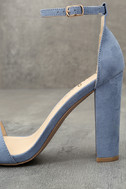 Taylor Blue Suede Ankle Strap Heels 7