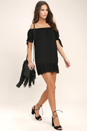 Moment In The Sun Black Lace Off-the-Shoulder Dress 2