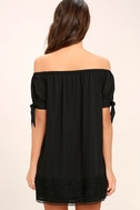 Moment In The Sun Black Lace Off-the-Shoulder Dress 4