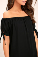 Moment In The Sun Black Lace Off-the-Shoulder Dress 5