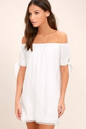 Moment In The Sun White Lace Off-the-Shoulder Dress 3