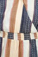 O'Neill Brenda Navy Blue Striped Romper 6