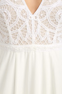 Enchanted Evening White Lace Maxi Dress 7