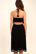 RahiCali Bonfire Black Embroidered Midi Dress 4