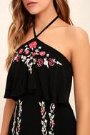 RahiCali Bonfire Black Embroidered Midi Dress 5