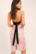 Keepsake Stolen Dance Blush Pink Print Midi Dress 1