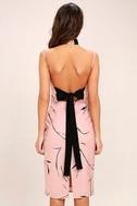 Keepsake Stolen Dance Blush Pink Print Midi Dress 4