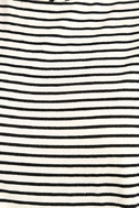 Classic Composition Black and White Striped Crop Top 6