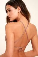 Dolce Vita Macrame Mauve Bikini Top 3