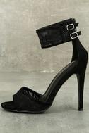 Drusilla Black Lace Ankle Strap Heels 1