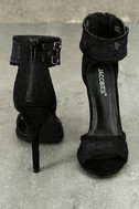 Drusilla Black Lace Ankle Strap Heels 3