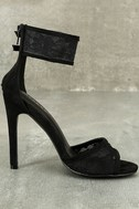 Drusilla Black Lace Ankle Strap Heels 4