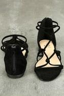 Rosabel Black Suede Gladiator Sandals 3