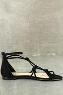 Rosabel Black Suede Gladiator Sandals 4