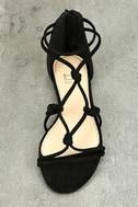 Rosabel Black Suede Gladiator Sandals 5
