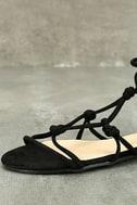 Rosabel Black Suede Gladiator Sandals 6