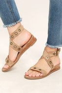 Coconuts Belize Natural Suede Wedge Sandals 2