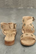 Coconuts Belize Natural Suede Wedge Sandals 3