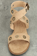 Coconuts Belize Natural Suede Wedge Sandals 5