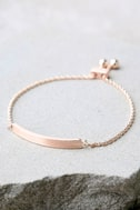 You Name It Rose Gold Bracelet 2