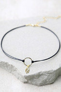 Zephyr Black and Gold Choker Necklace 2