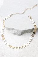 Never Let You Go Gold Choker Necklace 2