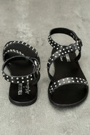 Amuse Society x Matisse Rock Muse Black Leather Studded Sandals 3