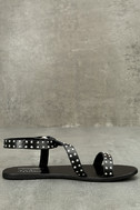Amuse Society x Matisse Rock Muse Black Leather Studded Sandals 4