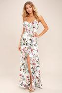 Bloom On Ivory Floral Print Maxi Dress 1