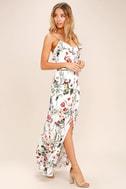 Bloom On Ivory Floral Print Maxi Dress 2