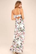 Bloom On Ivory Floral Print Maxi Dress 3